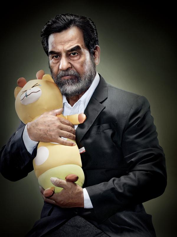 Saddam Hussein with Crying Animal