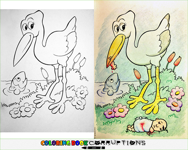 Coloring Book Corruptions Is A Blog That Showcases Wide Variety Of Innocent Childrens Pages Have Been Turned Into Something Sinister