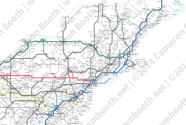 A Simplified Map Of Every Interstate And US Highway In The - Us map with interstates