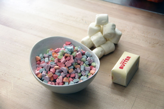 Unicorn barf a colorful sticky treat made from cereal marshmallows unicorn barf ingredients ccuart Images