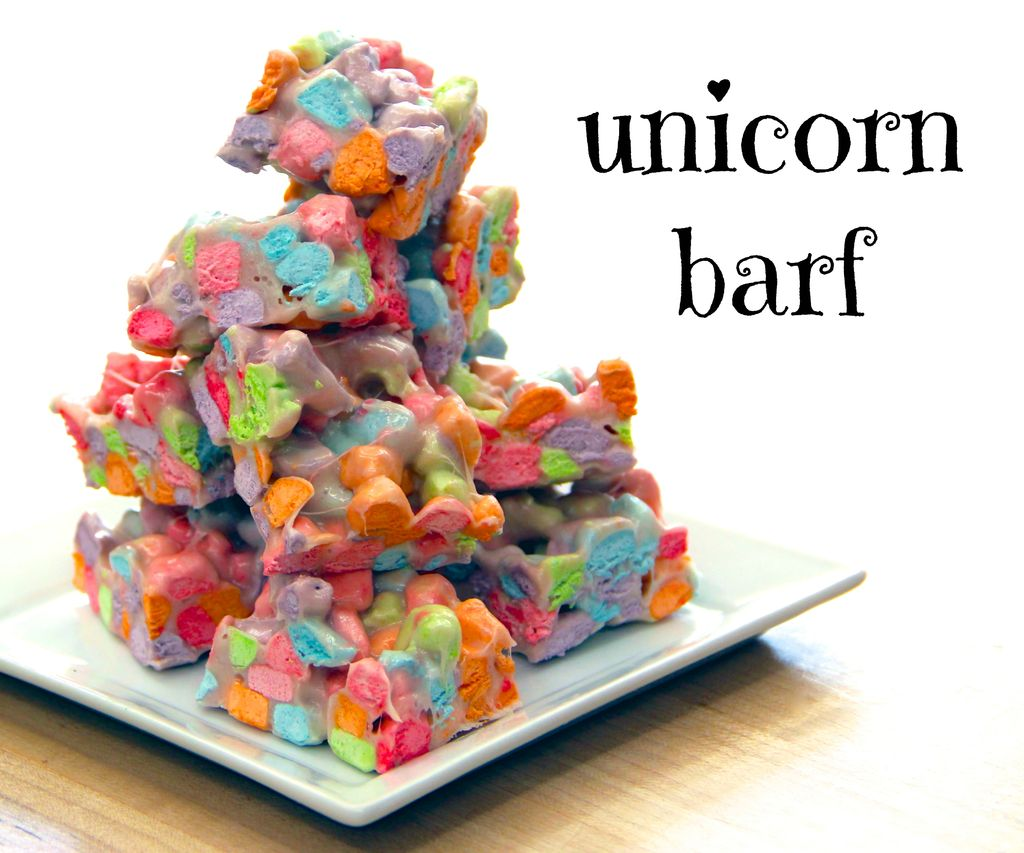 'Unicorn Barf', A Colorful Sticky Treat Made From Cereal Marshmallows
