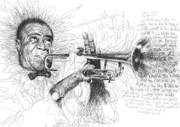 Scribble Drawing Process : Scribble style portraits by vince low