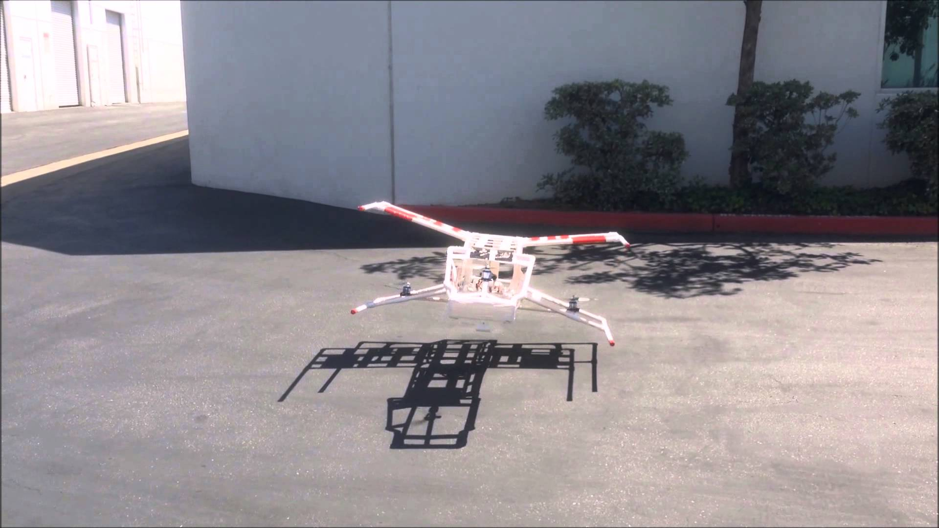 A Radio-Controlled X-Wing From 'Star Wars' Made Out of PVC Pipe