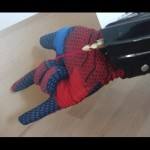 A Wrist-Mounted Coilgun With Aiming Laser Inspired by Spider-Man