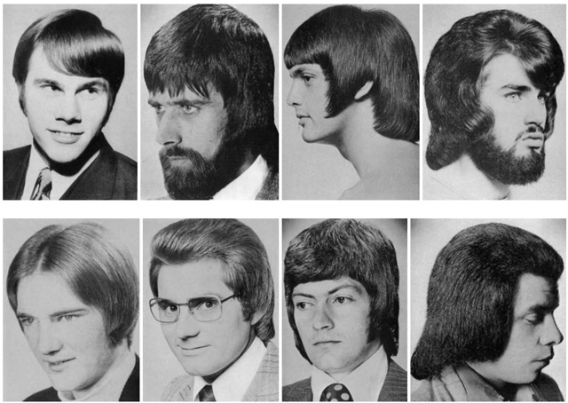 A Hilarious Montage Of Bad Hairstyles For Men From The 1960s And 1970s