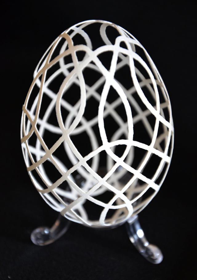 Carved Goose Egg Sculptures by Piotr Bockenheim