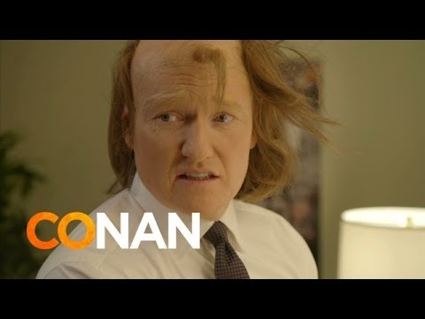 Conan Spoofs 'American Hustle' With Elaborate Hair Routine For the 2014 MTV Movie Awards
