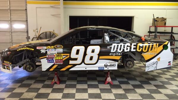 Dogecoin NASCAR Car