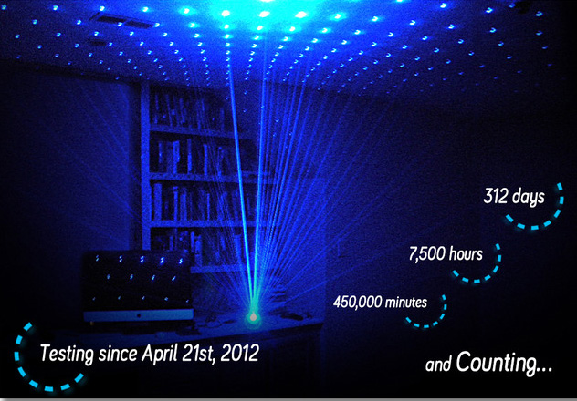 Firefly, A Blue Laser Lamp That Fills a Room with Hundreds of ...