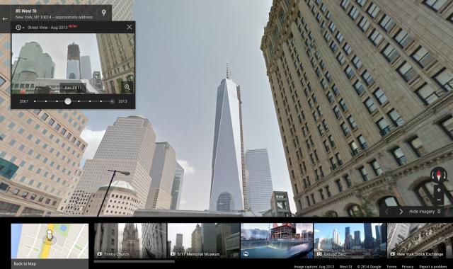 Google Street View Historical Imagery