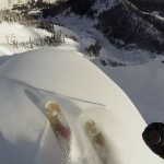 GoPro First Person Point of View Video Showing What It's Like to Set Off an Avalanche and Then Ski Through It