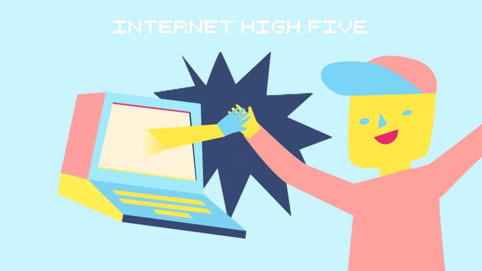 high five the internet  a looping compilation of people giving their webcam a high five