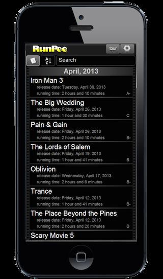 Phone RunPee App - Movies