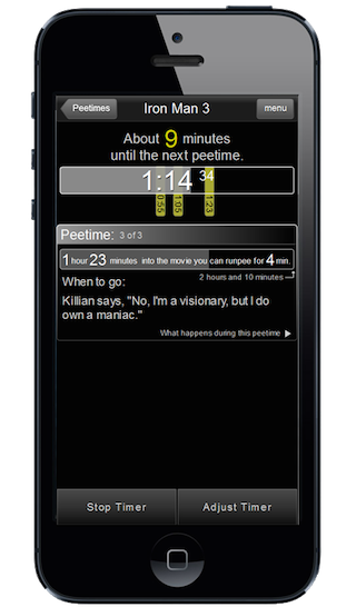 RunPee, An App That Lets You Know The Best Time To Go To the Restroom During A Movie
