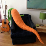 A 4-Foot-Long Giant Stuffed Carrot Body Pillow That Will Help Make Loneliness a Thing of the Past