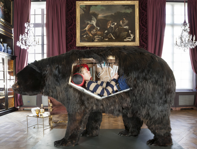 Artist Is Living Inside a Taxidermy Bear
