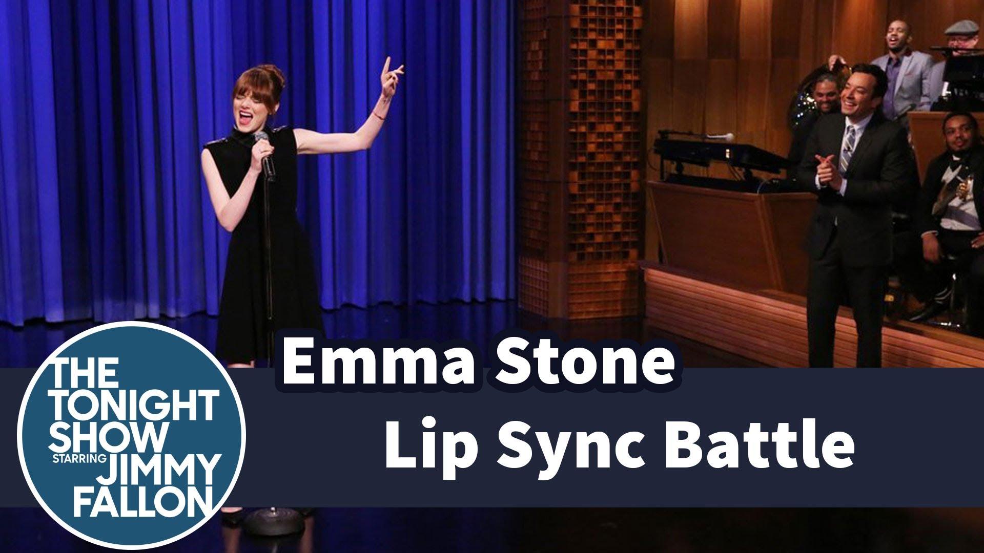 emma stone jimmy fallon lip sync battle hot girls wallpaper