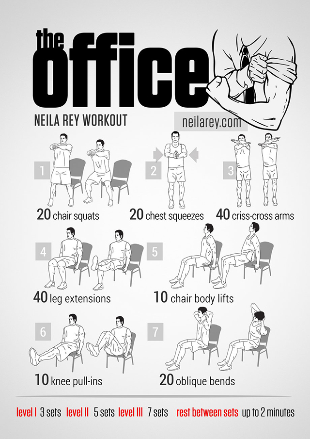 Office exercises for abs