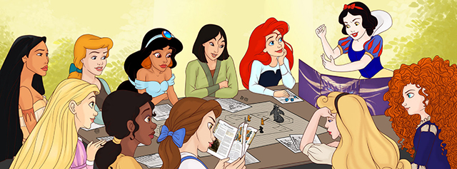 Disney Princesses Playing DnD