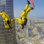 Skydivers Set World Record by BASE Jumping Off the Burj Khalifa in Dubai, The Tallest Building in the World