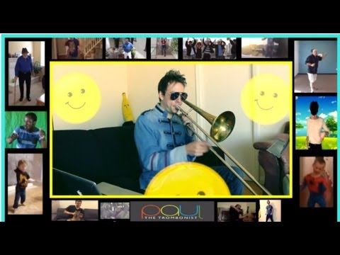 Talented Jazz Musician Plays a Great Trombone Loop Cover of Pharrell Williams' Song 'Happy'
