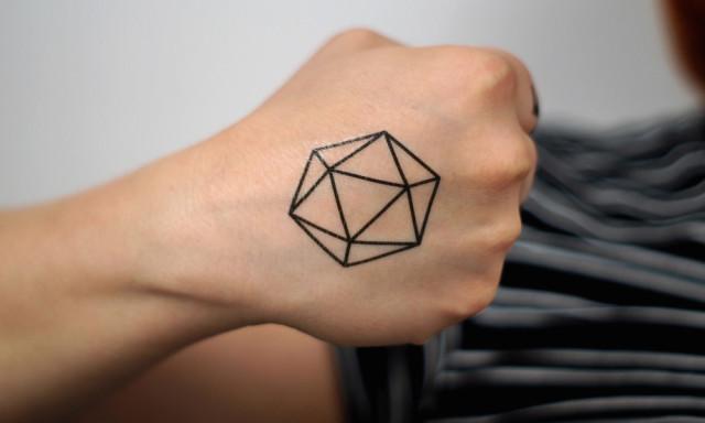d20 Temporary Tattoo