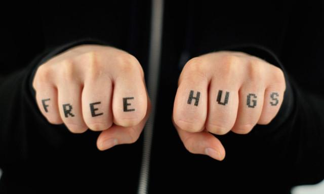 Free Hugs Temporary Tattoo
