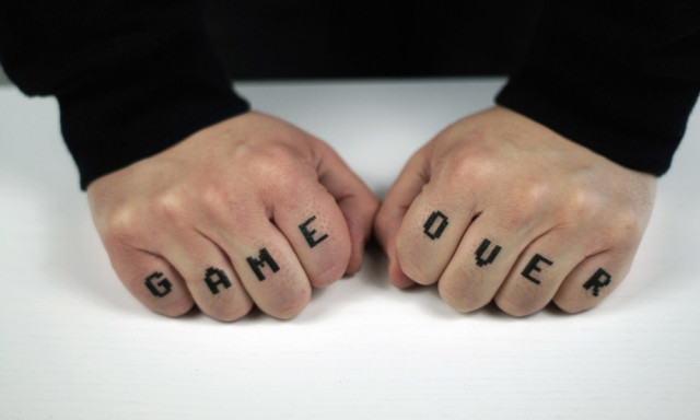 Game Over Temporary Tattoo