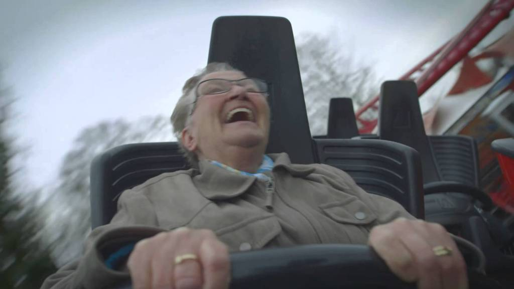Video Captures The Sheer Joy Of A 78-Year Old Woman Experiencing Her First Ride On A Roller Coaster