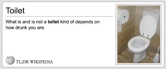 TL;DR Toilet