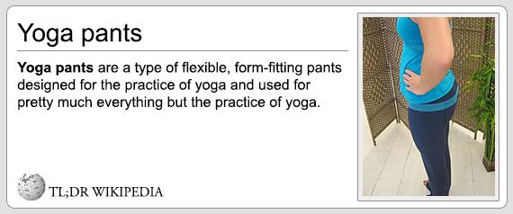 TL;DR Yoga Pants