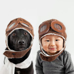 Mom Takes Cute Photos of Her Rescue Dog, Zoey, and 10-Month-Old Son, Jasper