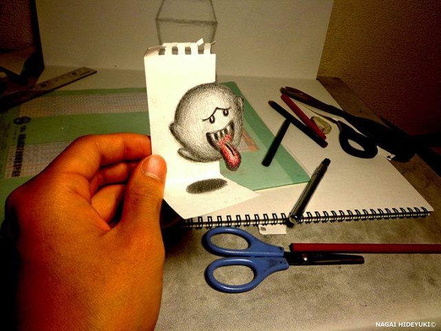 Remarkable 3D Illusion Drawings by Nagai Hideyuki