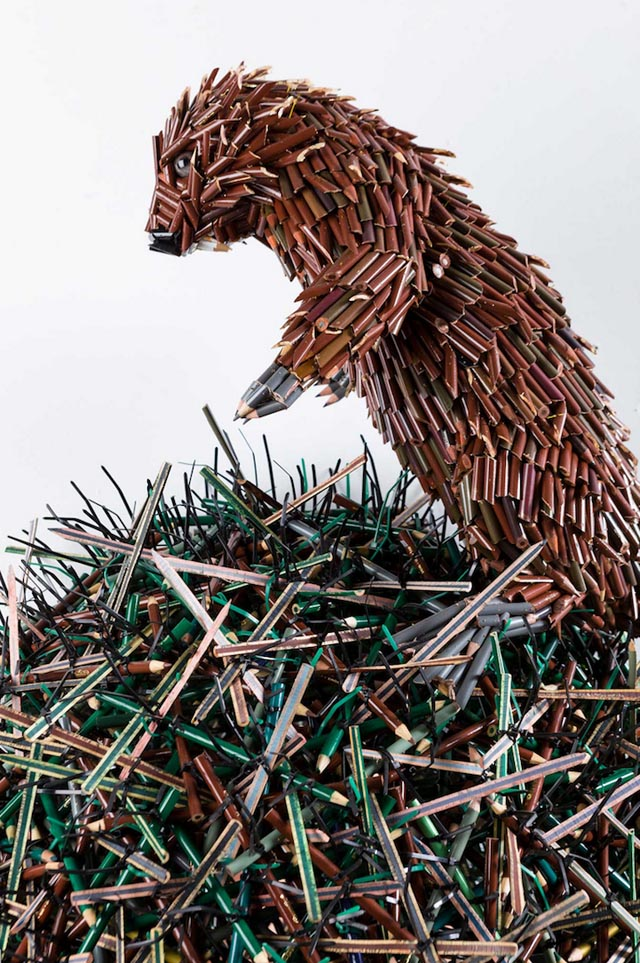 Colored Pencil Sculptures by Federico Uribe