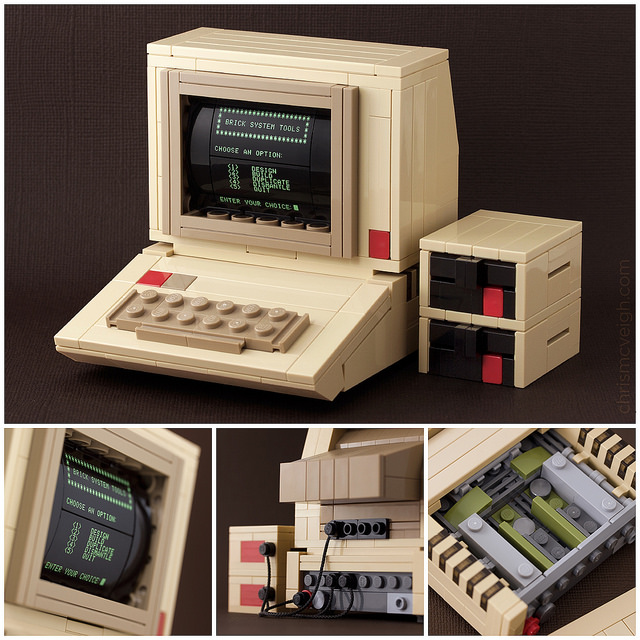 Apple II Computer Model Created Using LEGO by Chris McVeigh
