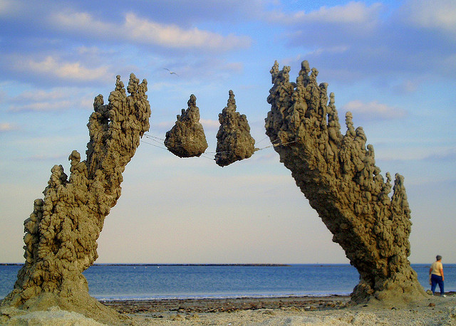 Beautiful Drip Castle Sand Sculptures That Appear to Defy Gravity