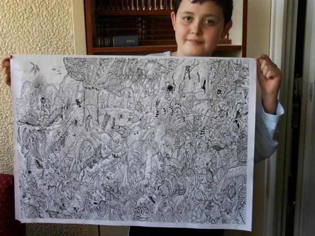 11-Year-Old Serbian Artist Dušan Krtolica Creates Astonishingly Detailed Nature Illustrations
