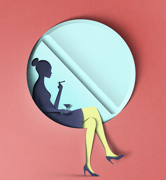 Paper Cut-Style Digital Illustrations by Eiko Ojala