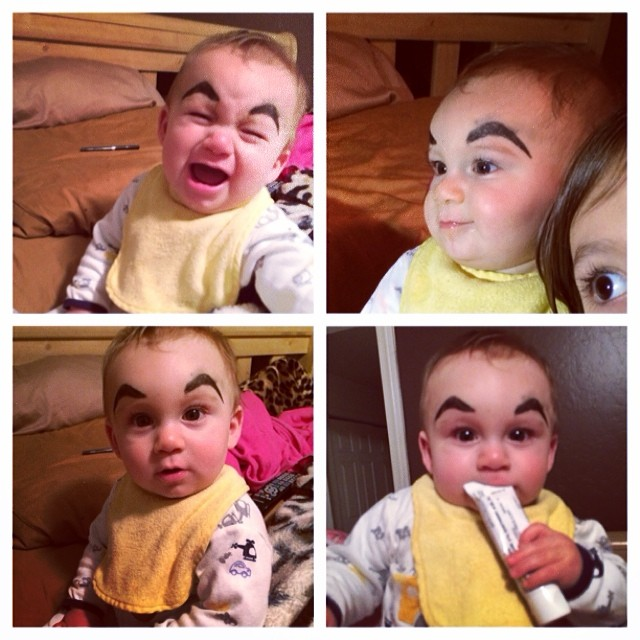 Babyeyebrows Funny Photos Of Babies With Drawn On Eyebrows
