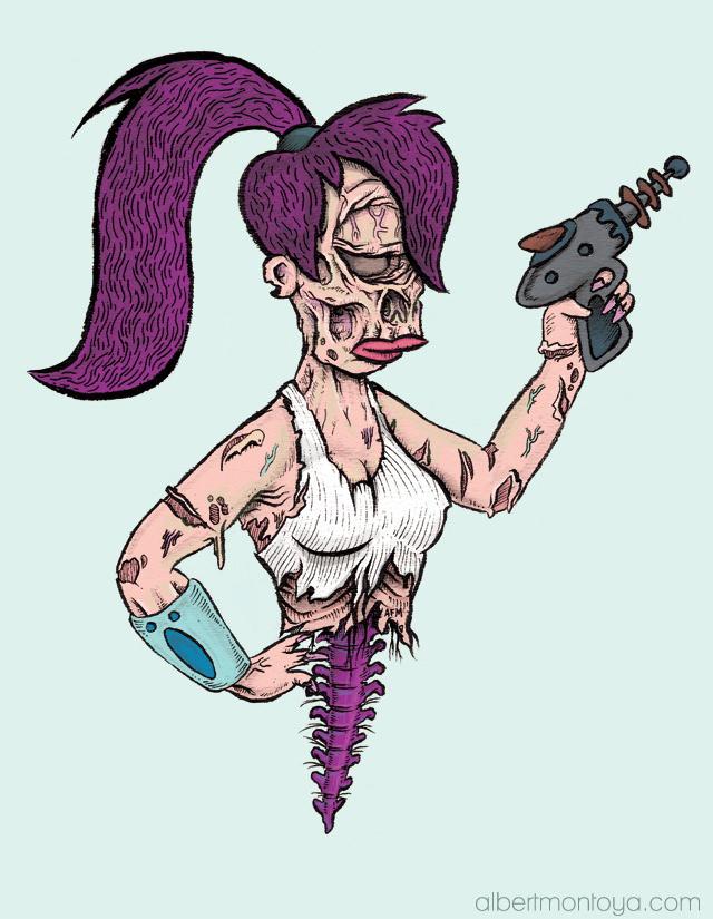 Leela Zombie - Futurama