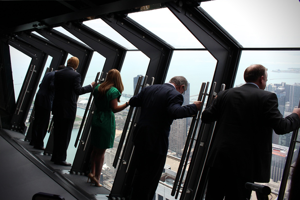 Tilt, A Chicago Sightseeing Attraction That Extends From Side of the John Hancock Center's 94th Floor