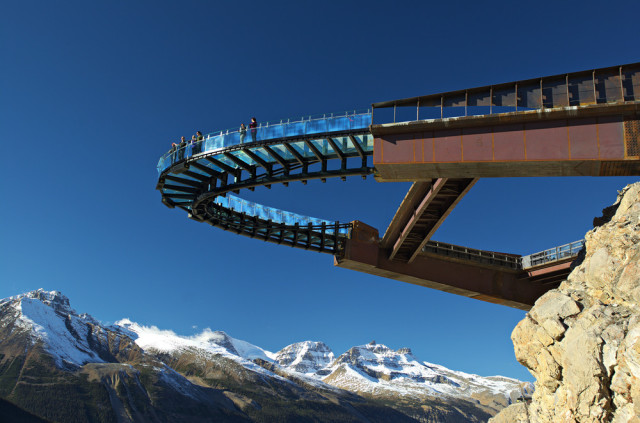 Glacier Skywalk, A Panoramic Glass-Floored Walkway Perched Off a Cliff in the Canadian Rockies