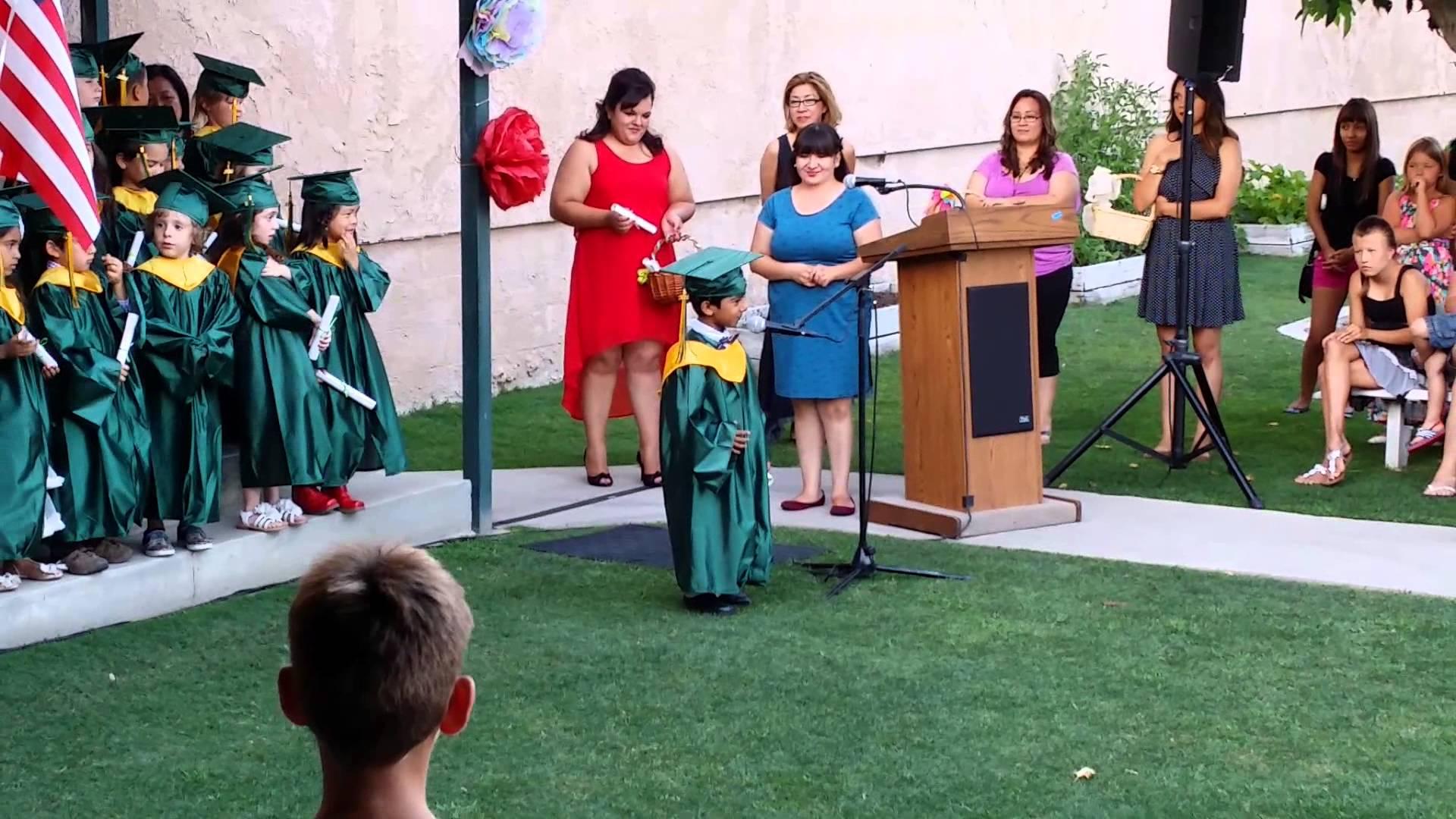 Adorable Preschooler Announces That He Wants to Grow Up to Be Batman During Graduation Speech