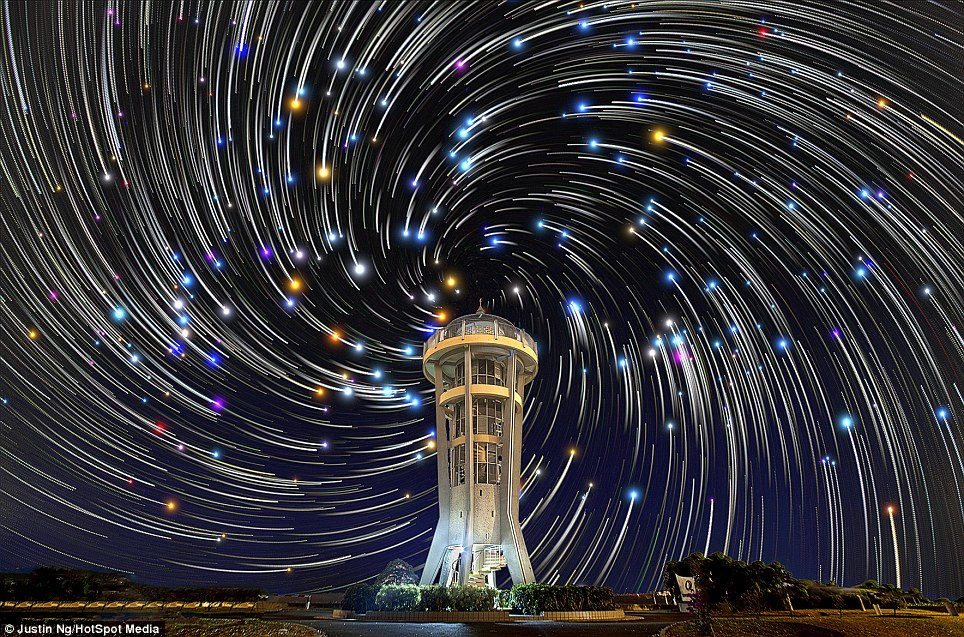 Stunning Digitally Composited Star Trail Photos of the Night