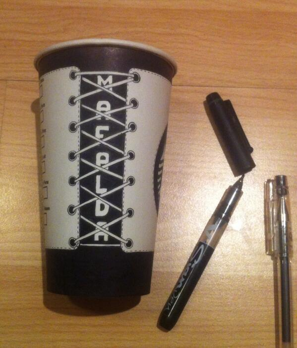 London Starbucks Barista Makes Elaborate Coffee Cup Drawings