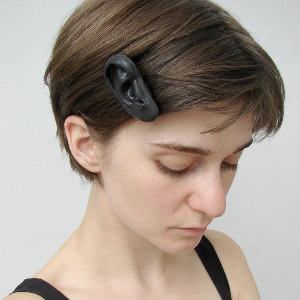 Wonderfully Unsettling Human Ear Bobby Pins