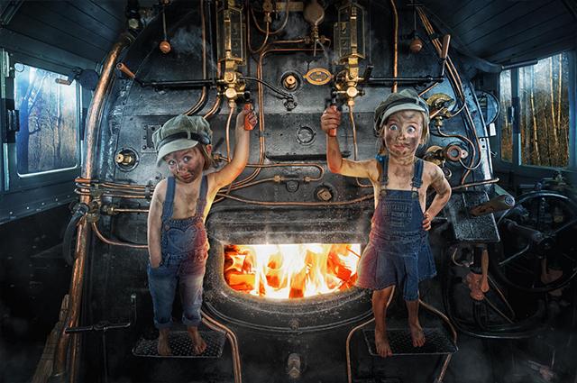 Mila Button and Lou-ke the Engine Drivers