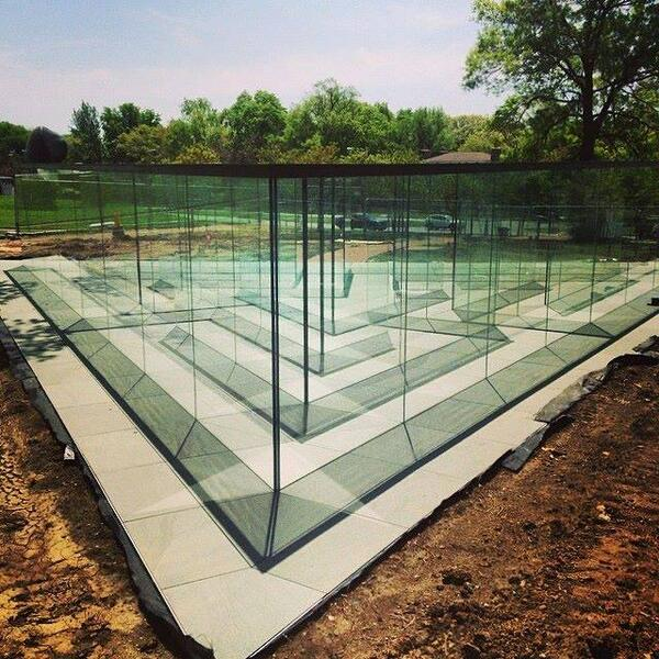 Glass Labyrinth by Robert Morris