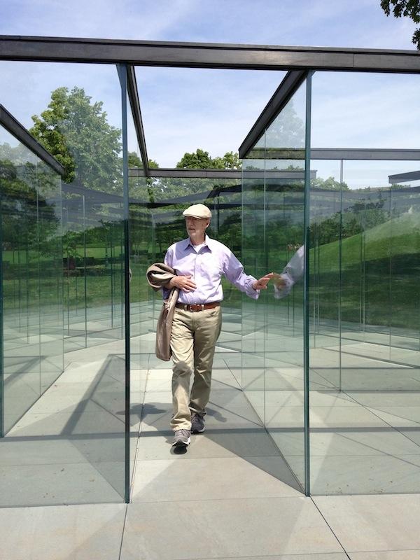 Glass Labyrinth by Robert Morris