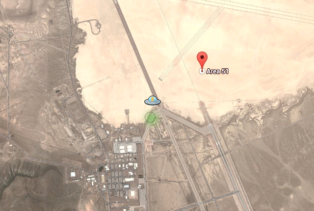 Google Maps Includes a UFO Easter Egg at Area 51